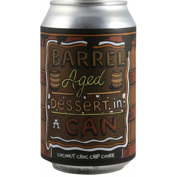 Barrel Aged Dessert In A Can - Coconut Choc Chip Cookie